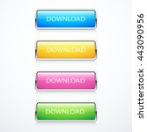 set of download buttons | Shutterstock .eps vector #443090956