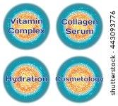 word vitamin complex. collagen... | Shutterstock .eps vector #443093776