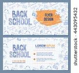 back to school banner or flyer...   Shutterstock .eps vector #443095432
