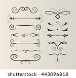 set of text dividers | Shutterstock .eps vector #443096818