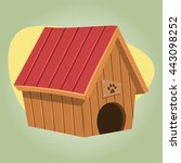 doghouse colorful icon. vector... | Shutterstock .eps vector #443098252