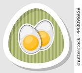 vector icon sliced boiled egg...   Shutterstock .eps vector #443098636