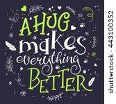 vector hand drawn inspiration...   Shutterstock .eps vector #443100352