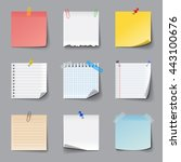 memo notes icons detailed photo ... | Shutterstock .eps vector #443100676