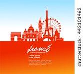 france travel vector... | Shutterstock .eps vector #443101462