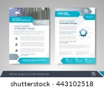 front and back page brochure... | Shutterstock .eps vector #443102518