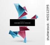 geometric vector background.... | Shutterstock .eps vector #443112595