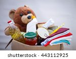 box with stuffs for donation | Shutterstock . vector #443112925