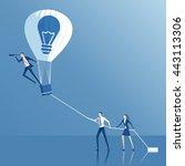 businessman have an idea  a... | Shutterstock .eps vector #443113306