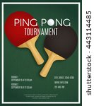 ping pong tournament. two... | Shutterstock .eps vector #443114485