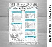 vintage seafood menu design.  | Shutterstock .eps vector #443115358