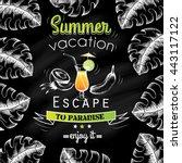 poster dedicated to summer... | Shutterstock .eps vector #443117122