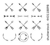 modern arrow black logos and... | Shutterstock .eps vector #443118898