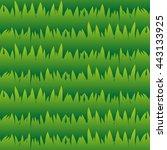 seamless grass pattern  lawn... | Shutterstock .eps vector #443133925