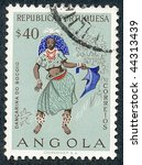 angola   circa 1957  people of... | Shutterstock . vector #44313439