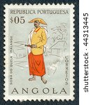 angola   circa 1957  people of... | Shutterstock . vector #44313445