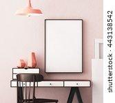 3d illustration interior.... | Shutterstock . vector #443138542
