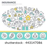 insurance concept illustration  ... | Shutterstock .eps vector #443147086
