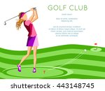 golf club competition... | Shutterstock .eps vector #443148745