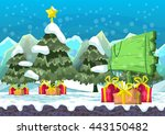 cartoon vector christmas... | Shutterstock .eps vector #443150482