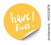 vector orange circle sticker...   Shutterstock .eps vector #443152876