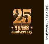 25 years anniversary vector... | Shutterstock .eps vector #443156848