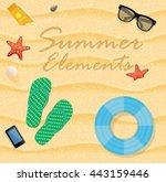 summer beach vector... | Shutterstock .eps vector #443159446
