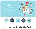 vet clinic web design concept... | Shutterstock .eps vector #443163406