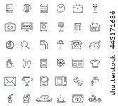 set of linear icons  symbols ... | Shutterstock .eps vector #443171686