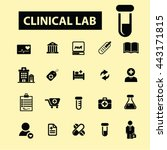 clinical lab icons | Shutterstock .eps vector #443171815