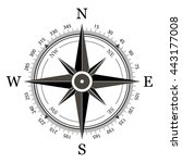 compass on a white background... | Shutterstock .eps vector #443177008