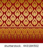 thai ornament background | Shutterstock .eps vector #443184502
