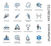medical specialties set 3  ... | Shutterstock .eps vector #443186722