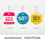 sale tag vector set. label... | Shutterstock .eps vector #443192266