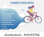 girl riding a bike. list of ten ...   Shutterstock .eps vector #443193706