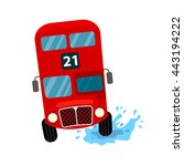 traditional red london bus... | Shutterstock .eps vector #443194222