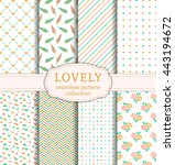 Set Of Pretty Patterns With...