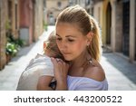 adorable  affection  baby sad... | Shutterstock . vector #443200522