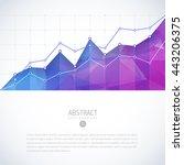 editable business diagram graph ... | Shutterstock .eps vector #443206375