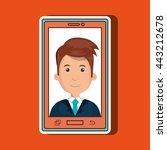 smartphone service design ... | Shutterstock .eps vector #443212678