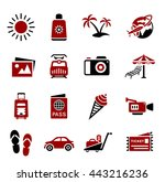 vacation icons | Shutterstock .eps vector #443216236