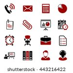 office icons | Shutterstock .eps vector #443216422