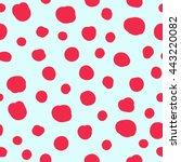 blue vector seamless pattern... | Shutterstock .eps vector #443220082