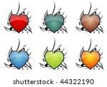 musical hearts | Shutterstock .eps vector #44322190