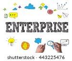 enterprise businessman work on... | Shutterstock . vector #443225476