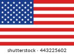 american flag or banner of the... | Shutterstock .eps vector #443225602