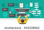 software development.... | Shutterstock .eps vector #443228062