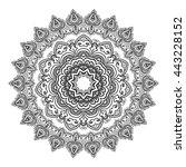 mandala. vintage decorative... | Shutterstock .eps vector #443228152