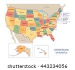vector political map of usa...   Shutterstock .eps vector #443234056