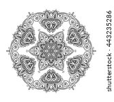 mandala. vintage decorative... | Shutterstock .eps vector #443235286